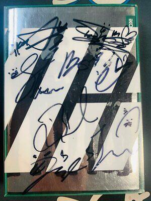 iKon DEBUT FULL Autograph ALL MEMBER Signed PROMO ALBUM KPOP signature