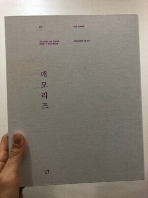 BTS Bangtan Boys Memories of 2017 DVD Set Opened without Photocard(defect)