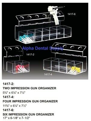 Plasdent Dental Organizer For Impression Crown Bridge Dispenser Gun 3 Sizes