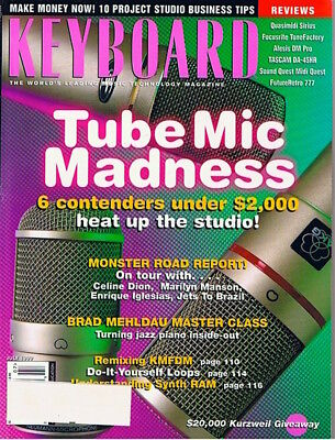 TUBE MIC Quasimidi Sirus FutureRetro 777, Celine Dion Keyboard ist 1999 Magazine for sale  Canada