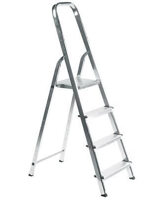 Elkop Haushaltsleiter 4 Stufen Aluminium Stehleiter Klappleiter klappbar