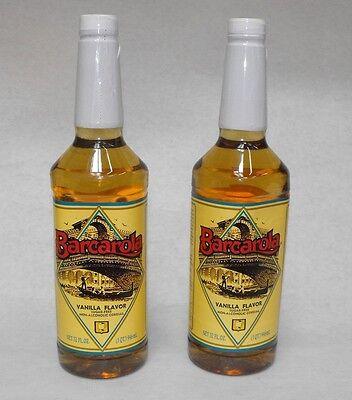 2 Pack Gourmet Sugar Free Vanilla Syrup 32oz. Coffee Drink Italian Soda Flavor