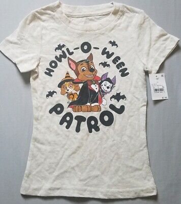 NEW Paw Patrol Halloween Shirt Size 2T Dogs Puppy Tan Nickelodeon Show Toddler