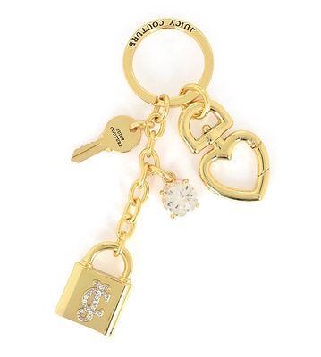 Key Ring Padlock - Juicy Couture Key Ring fob Purse Charm Padlock Key NEW