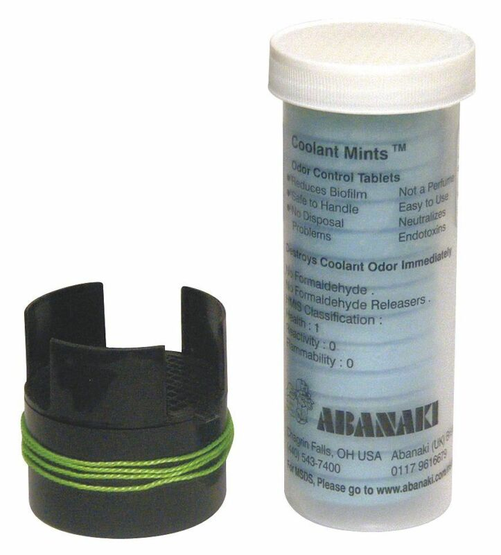 Abanaki Coolant Mints  Eliminates Rotten Egg Smell from Coolant Sumps, Hydrogen