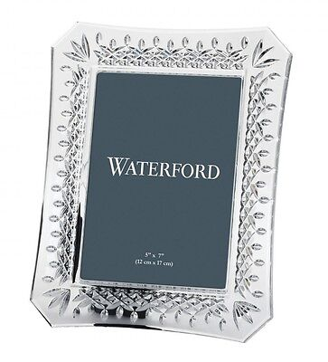 """Waterford Crystal Lismore 5x7"""" Photo Picture Frame *New in Box*"""