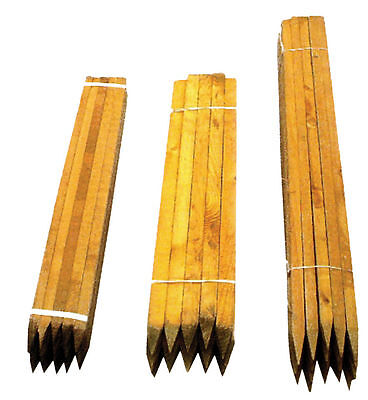 TREE STAKE 50 PACK OF 1.5m x 32mm SQUARE SUPPORT TIMBER WOOD GARDEN POSTS PEGS