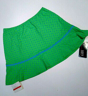 Lily's Of Beverly Hills Mini Tennis Athletic Skirt Lime Green SM. NWT MADE - Lime Green Skirt