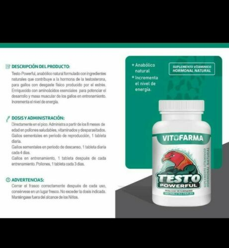 VITAMIN FOR  ROOSTER / GALLOS TESTO POWERFUL 100 TABS  * EXP 01/23*