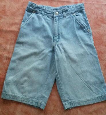 Wie NEU ❤️ Petit Bateau Schöne kurze Jungen Jeans Hose Taschen 126 cm blau ❤️