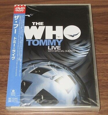Sealed PROMO! The Who JAPAN Tommy Live DVD official PETE TOWNSHEND more listed