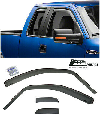 For 04-08 Ford F150 Standard Cab SMOKE TINTED Side Vents Sun Shade Rain Guards