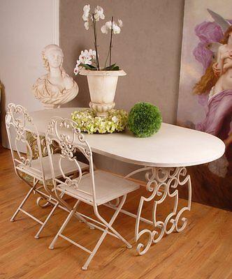 Grosser Gartentisch Esstisch Shabby Chic Eisentisch Antik Tisch Metall Tafel