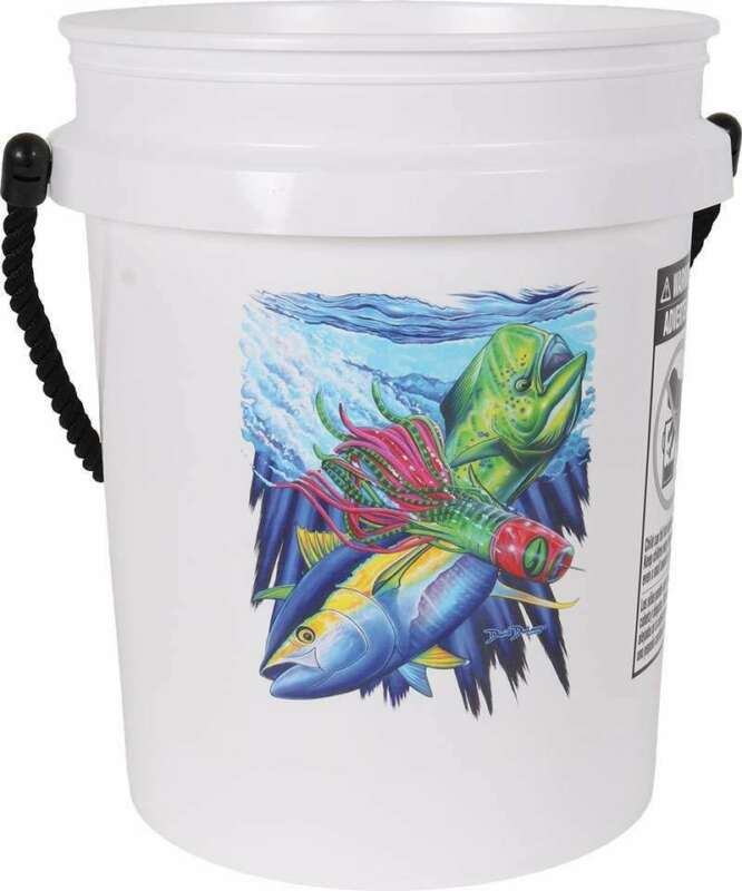 TackleDirect TDSBWHT 5 Gallon Bucket with Black Rope Handle