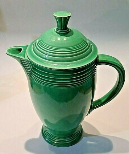 Fiesta Homer Laughlin Vintage Coffee Pot/Server Original Green Art Deco