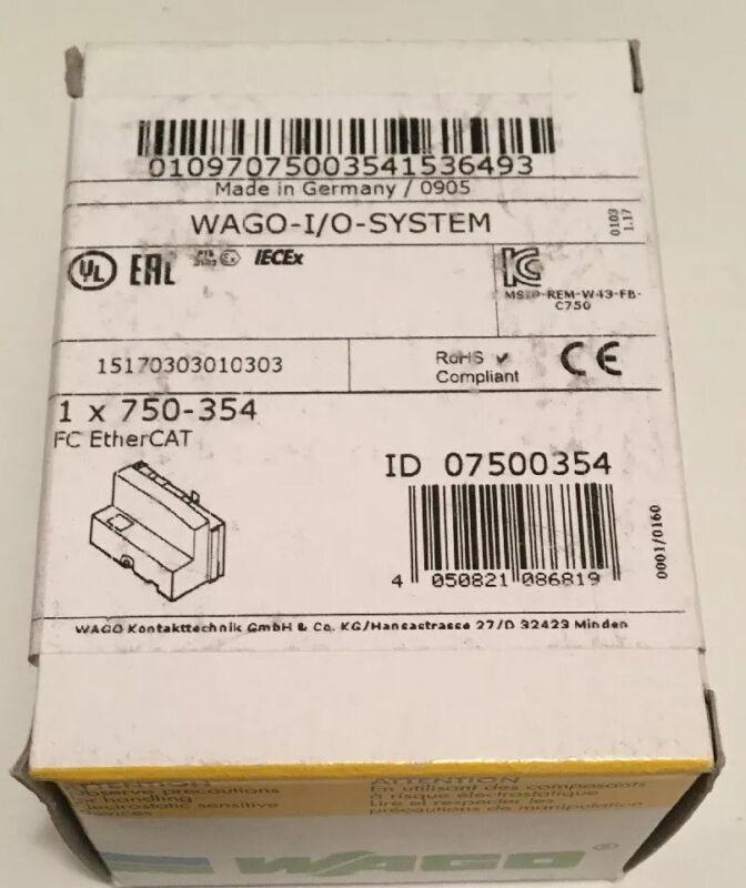 New Sealed Wago 750-354 FC EtherCAT, WAGO I/O System (ID 07500354)