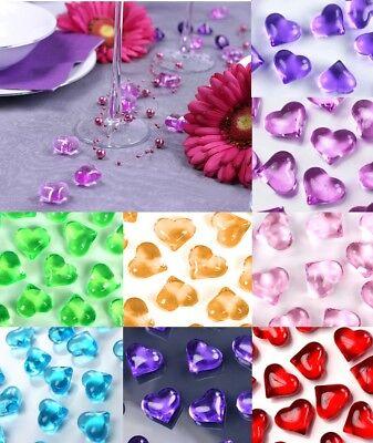 30 Acryl Herzen Streu Dekoration FARB Auswahl Tisch Hochzeitsdeko Romantik NEU (Hochzeitstisch Dekoration)