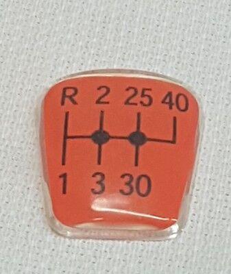 Schaltbild Aufkleber Scheibe Schalthebel Getriebe Schaltknauf Schaltgriff Fendt