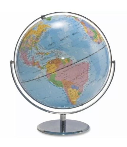 Advantus 12 Inch Desktop World Globe with Blue Oceans