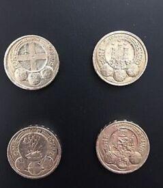 City one pound coin set