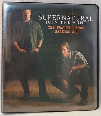Supernatural Join The Hunt Trading Cards Seasons 4-6 Cryptozoic Binder OPENED