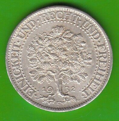5 Reichsmark 1932 F Eichbaum toll erhalten besser als vz nswleipzig