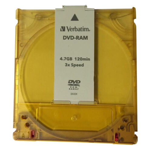DVD-RAM Cartridge, Empty with sleeve (Verbatim brand) 50 pack