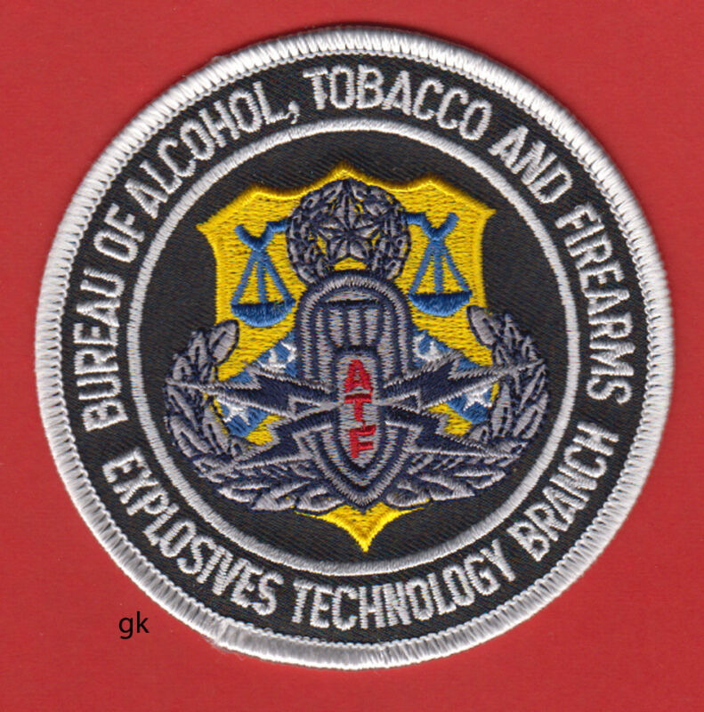 BATF BUREAU OF ALCOHOL TOBACCO & FIREARMS EXPLOSIVES  POLICE SHOULDER PATCH