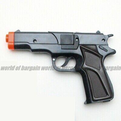 Cap Gun Pistol (SUPER CAP TOY GUN 8 Shot Ring Caps Black Colt .45 Kids Handgun Police)