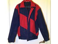Unisex vintage blue and red coat