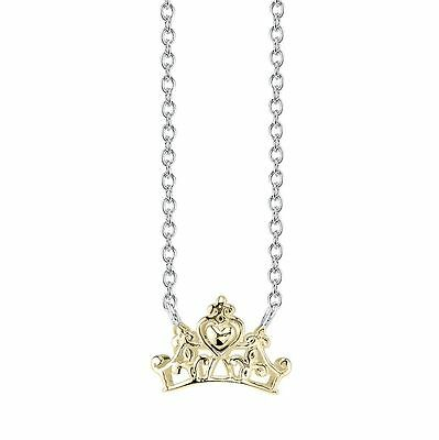 Disney Prinzessin Sterling 10K Vergoldet Tiara Krone Halskette Cinderella (Cinderella Prinzessin Tiara)
