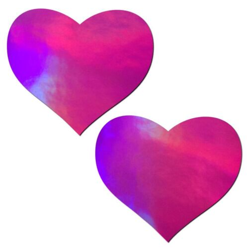 Holographic Pink Heart Nipple Pasties by Pastease