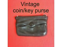 Vintage black leather coin/5 keys purse. Happy to post.