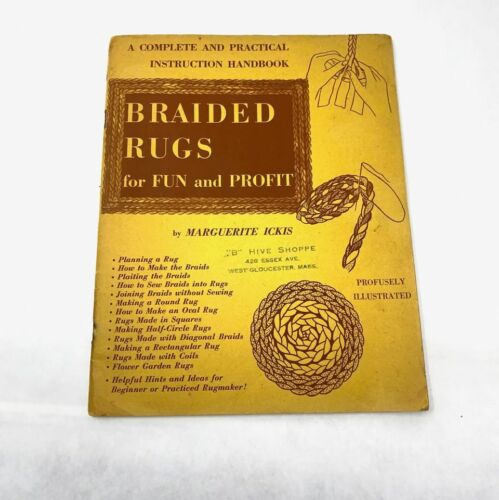 Vintage 1951 Braided Rugs Books for Fun & Profit by Marguerite Ickis