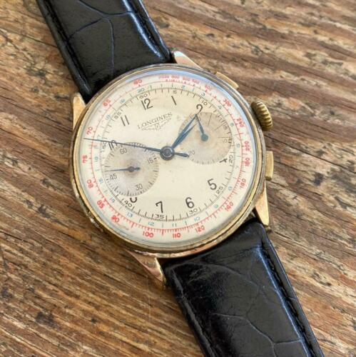 LONGINES 13ZN REF. 5523 GOLD PLATED FLYBACK CHRONOGRAPH VINTAGE GENUINE WATCH - watch picture 1