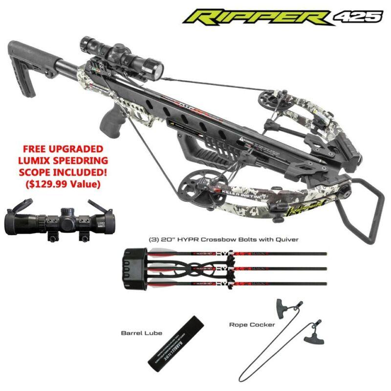 2021 Killer Instinct Ripper 425 FPS Crossbow Package - Lumix Speedring Scope!