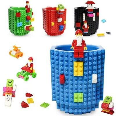 Plastic Coffee Mug (Build-on Bricks Mug DIY building Blocks Coffee Cup with a Pack of)