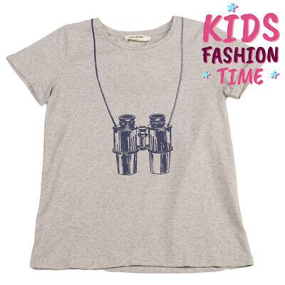 NICE THINGS MINI T-Shirt Top Size 14Y Melange Effect Binoculars Print