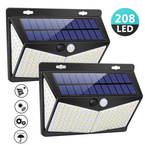 208 LED Solar Power PIR Motion Sensor Wall Lights Outdoor Garden Lamp Waterproof Home & Garden