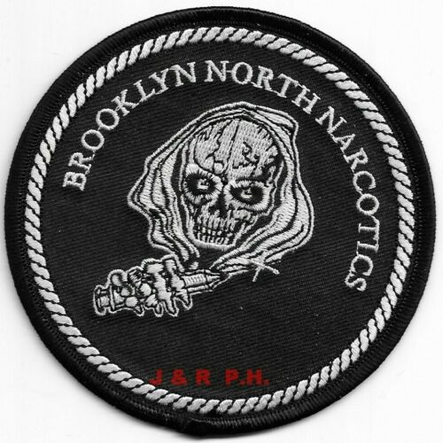 """Brooklyn North Narcotics, N.Y. City (4"""" round) shoulder police patch (fire)"""