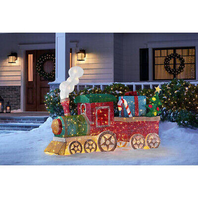 OUTDOOR TRAIN SET Christmas Yard Decoration Warm White LED Lights