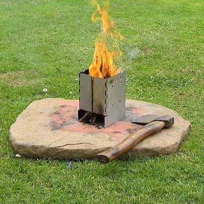 Portable Wood Burning Stove Pocket Folding Camp Stove Mini Fire Spout  Barbeque - Portable Wood Burning Stove Pocket Folding Camp Stove Mini Fire