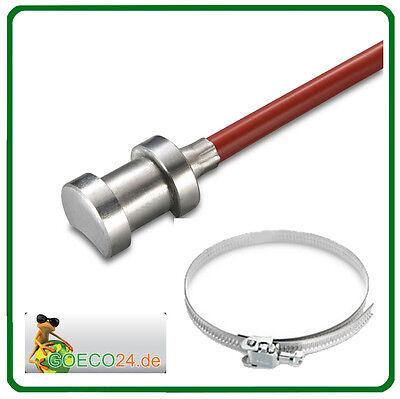 PT1000 Rohranlegefühler / Anlegefühler 2m Silikon 200°C inkl. Metallspannband