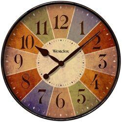 Westclox 32897 Round Kaleidoscope Wall Clock, 12
