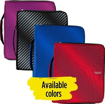 Zipper Binder 3 Rings Durable Expanding File Pocket Water Resistant With Handle