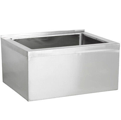 33 Stainless Steel 28 X 20 12 Floor Mop Bucket Sink Commercial Utility Drain