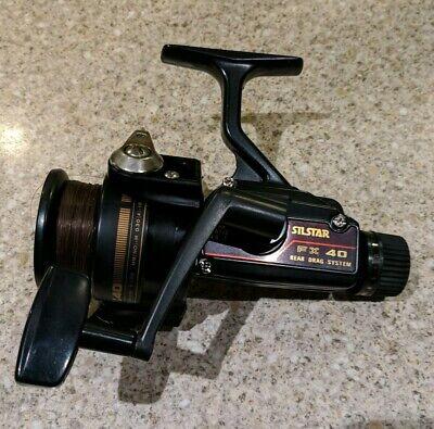 VINTAGE SILSTAR FX 40 FISHING REEL REAR DRAG SYSTEM BLACK