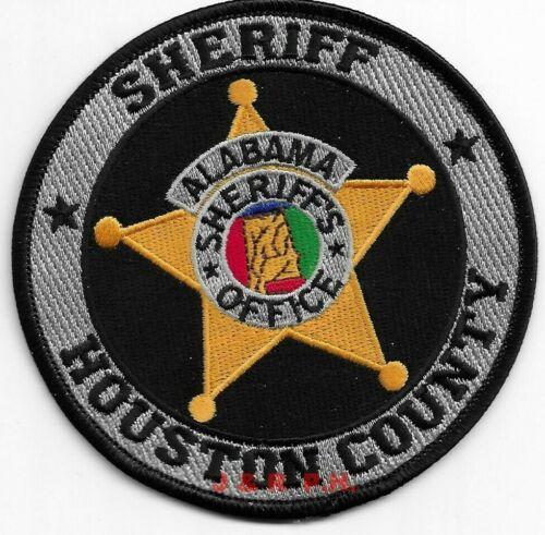 "Houston County Sheriff, Alabama  (4"" round size)  shoulder police patch (fire)"