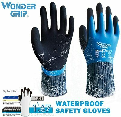 New Wonder Grip 318 Waterproof Thick Non-slip Work Safety Protection Gloves
