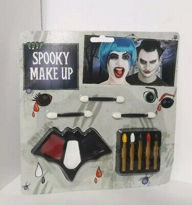 HALLOWEEN FANCY DRESS HORROR VAMPIRE SPOOKY MAKEUP KIT FAKE BLOOD FACE PAINT BAT